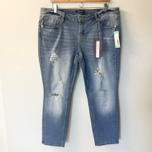 NWT Vigoss Jagger Distressed Skinny Jeans - 18